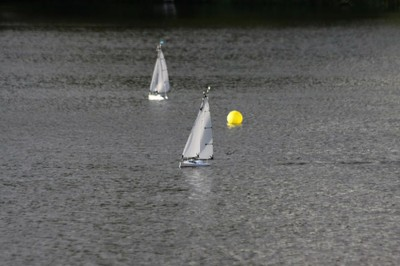 Racing on a quiet windless day